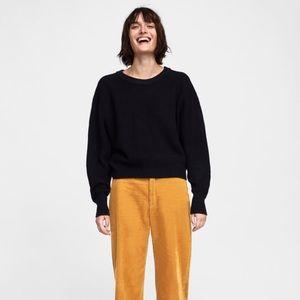 Zara Black Thick Knit Sweater